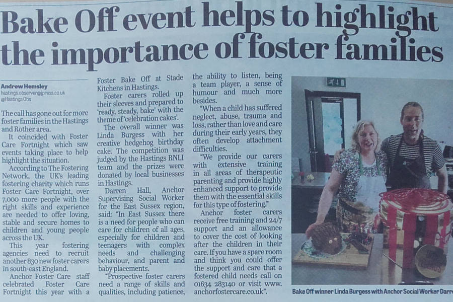 Anchor Foster Care in the Hastings Observer