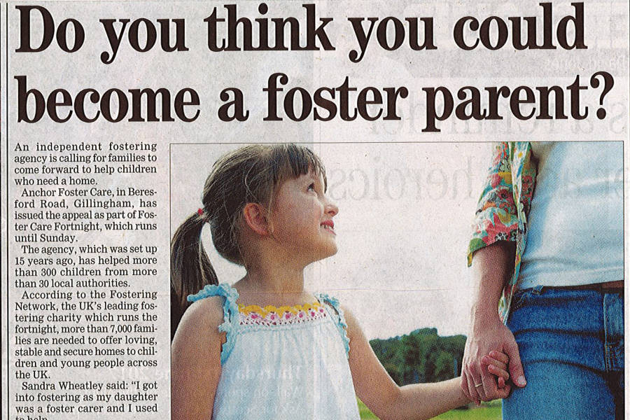 Anchor Foster Care in the Medway Messenger